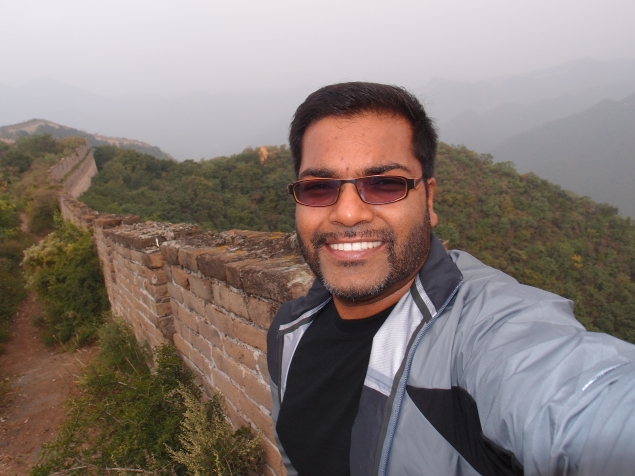 At the Great Wall (Badaling section)