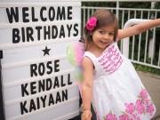 Rosie at birthday party