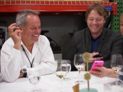 Chef Wolfgang Puck at our table