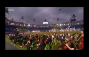 BBC Olympics coverage at the outset of the Opening Ceremony
