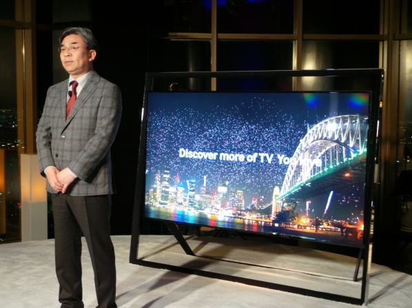 "Samsung showing off its 85"" 4k $38k beauty at CES -- photo by Hanson Hosein"