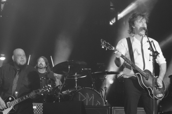 Paul McCartney with Dave Grohl on drums, Abe Laboriel guitar: Safeco Field, July 19 2013