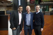 Hanson Hosein with Jeff Bezos and MOHAI Director Leonard Garfield. All rights reserved HRH Media