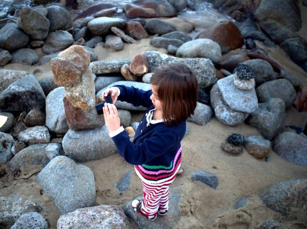 Taking photos in Monterey