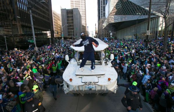 Victory Parade. Courtesty Josh Trujillo, SeattlePI.com
