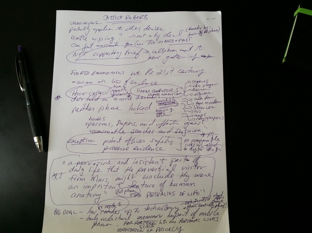 Notes in paper