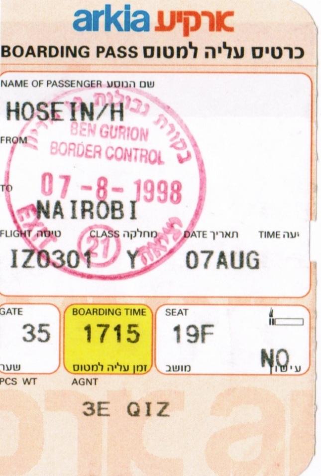 Nairobi Boarding Pass