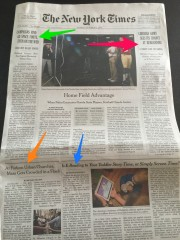 NY Times Front Page blog post