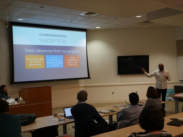 Storytelling training at Intel
