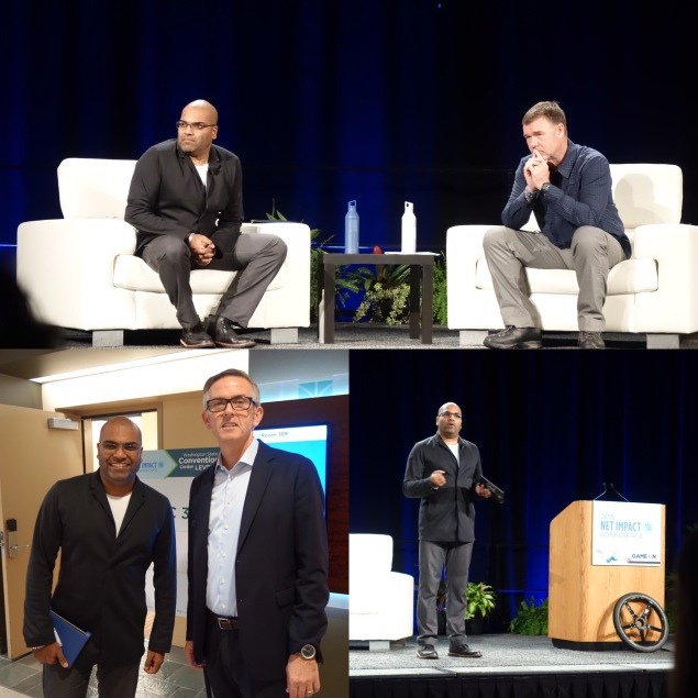 At Net Impact with REI CEO Jerry Stritzke, Starbucks President Cliff Burrows: Photos Ilona Idlis