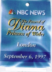 HRH Press Pass Diana Funeral