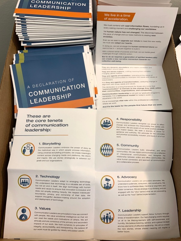 Communication Leadership Declaration handouts